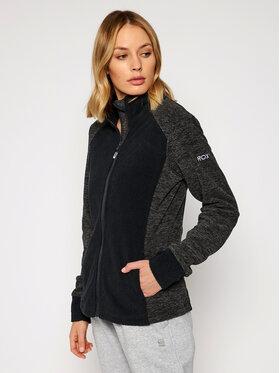 Roxy Roxy Fliso džemperis Surface ERJFT04207 Juoda Regular Fit