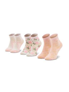 Mayoral Mayoral Sada 3 párů dětských vysokých ponožek 10012 Růžová