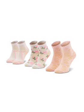 Mayoral Mayoral Súprava 3 párov vysokých detských ponožiek 10012 Ružová