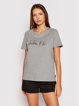 Calvin Klein Calvin Klein Tricou Signature K20K202870 Gri Regular Fit