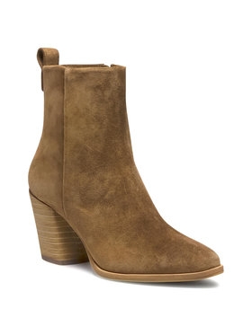 Tory Burch Tory Burch Μποτάκια Casual 70 Mm Zip Up Bootie 75478 Καφέ