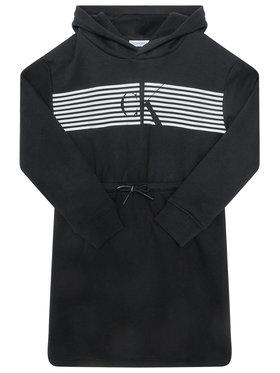 Calvin Klein Jeans Calvin Klein Jeans Hétköznapi ruha Striped Ck Hood IG0IG00605 Fekete Regular Fit