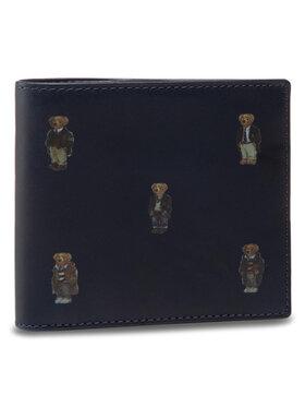 Polo Ralph Lauren Emporio Armani Veľká pánska peňaženka Bear Bf 405826008001 Tmavomodrá