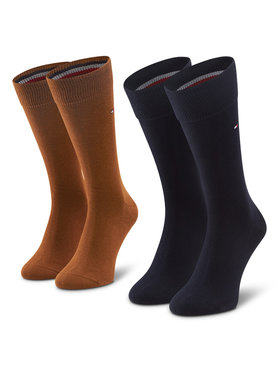 TOMMY HILFIGER TOMMY HILFIGER Sada 2 párů pánských vysokých ponožek 371111 Černá