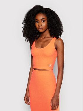 Calvin Klein Jeans Calvin Klein Jeans Felső J20J215703 Narancssárga Regular Fit
