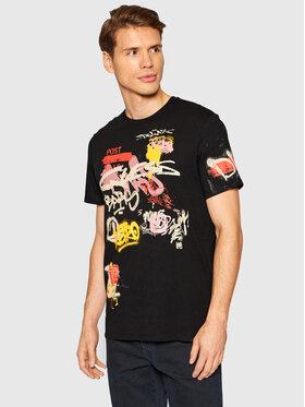 Guess Guess T-Shirt MBBI39 KARC0 Černá Regular Fit
