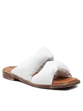 Carinii Carinii Mules / sandales de bain B6125 Blanc