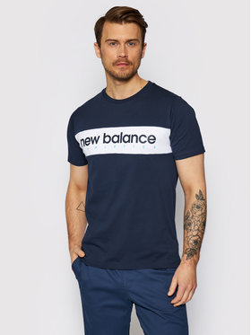 New Balance New Balance T-Shirt NBMT11548 Granatowy Relaxed Fit