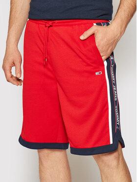 Tommy Jeans Tommy Jeans Sportiniai šortai Tjm Mesh Basketball DM0DM10601 Raudona Relaxed Fit