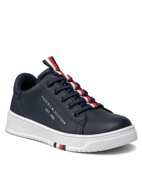 Tommy Hilfiger Tommy Hilfiger Sneakersy Low Cut Lace Up Sneaker T3B4-32052-0193 M Granatowy