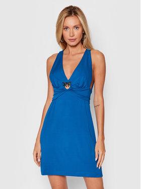 Pinko Pinko Koktejlové šaty Piggs PE 21-22 BLK01 1G16X5 Y7DT Modrá Slim Fit