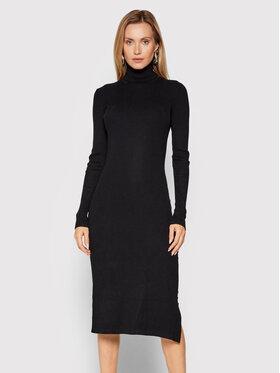 Fracomina Fracomina Džemper haljina FR21WD5001K41601 Crna Slim Fit