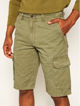 Wrangler Wrangler Pantaloncini di tessuto Cargo W15DKC275 Verde Regular Fit