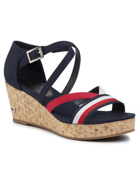 TOMMY HILFIGER TOMMY HILFIGER Basutės Corporate Detail Mid Wedge FW0FW04616 Tamsiai mėlyna