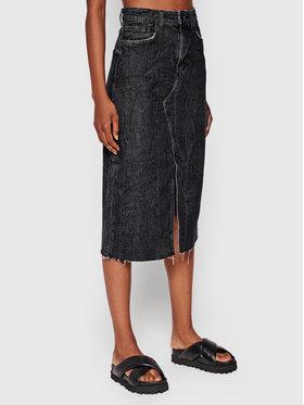 Guess Guess Jupe en jean Noelia W1YD90 D3YG4 Noir Regular Fit