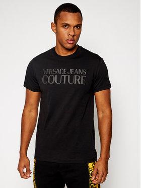 Versace Jeans Couture Versace Jeans Couture Marškinėliai B3GWA7TA Juoda Slim Fit