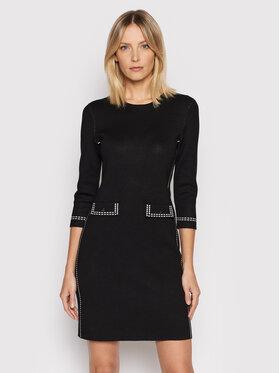 DKNY DKNY Sukienka dzianinowa DD1HN908 Czarny Slim Fit