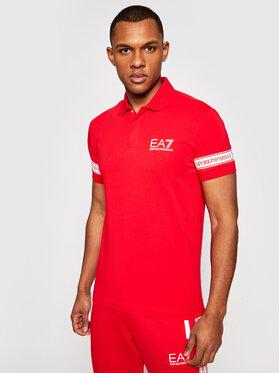 EA7 Emporio Armani EA7 Emporio Armani Тениска с яка и копчета 3KPF04 PJ03Z 1451 Червен Regular Fit