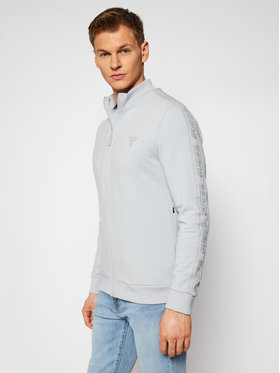 Guess Guess Džemperis Full Zip U1GA12 K6ZS1 Pilka Slim Fit