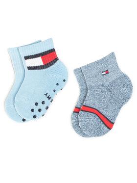 Tommy Hilfiger Tommy Hilfiger Súprava 2 párov vysokých detských ponožiek 100000799 Tmavomodrá