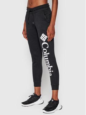 Columbia Columbia Долнище анцуг Logo Fleece Черен Regular Fit