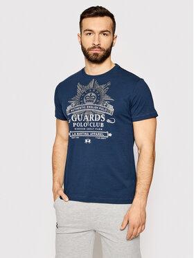 La Martina La Martina T-Shirt RMRG01 JS206 Tmavomodrá Regular Fit