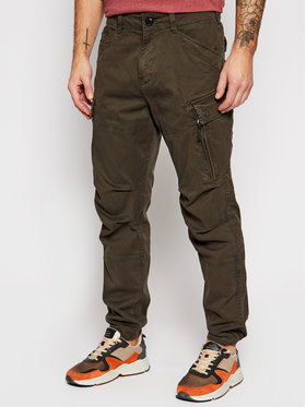 G-Star Raw G-Star Raw Bavlnené nohavice Roxic D14515-C096-B575 Zelená Straight Leg