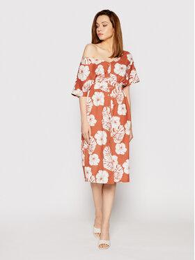Roxy Roxy Každodenné šaty Sunny Memories ERJWD03562 Oranžová Regular Fit
