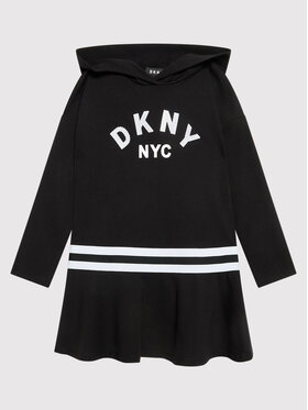 DKNY DKNY Hétköznapi ruha D32804 M Fekete Regular Fit
