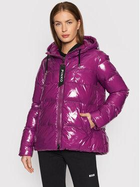Pinko Pinko Pernata jakna Eleodoro 1 AL21-22 BLK01 1G16NF Y767 Ljubičasta Regular Fit