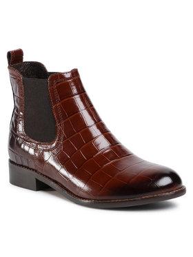Gino Rossi Gino Rossi Členková obuv s elastickým prvkom 4768-04 Hnedá
