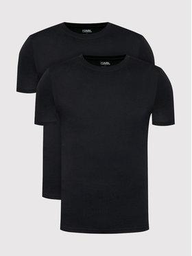 KARL LAGERFELD KARL LAGERFELD 2er-Set T-Shirts Crew Neck 215M2199 Schwarz Slim Fit