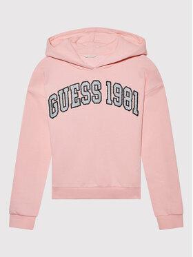 Guess Guess Bluza J1BQ08 KAUX0 Różowy Regular Fit