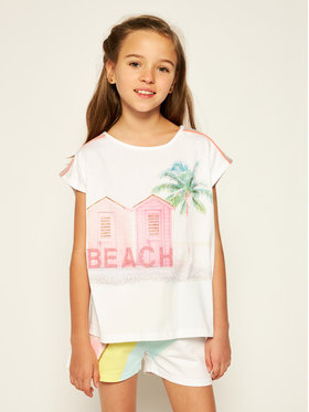 Billieblush Billieblush T-Shirt U15740 Biały Regular Fit