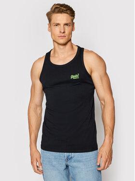 Superdry Superdry Tank top marškinėliai Ol NeonLite Vest M6010615A Juoda Regular Fit
