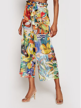 Desigual Desigual Bavlnené nohavice Fiji 21SWMK16 Farebná Relaxed Fit