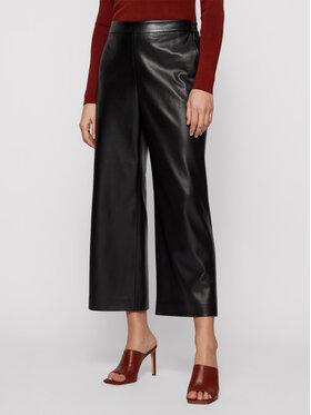 Boss Boss Spodnie skórzane Taomie 50447662 Czarny Regular Fit