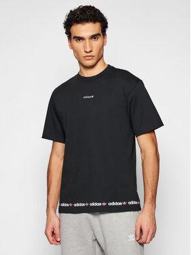 adidas adidas Póló Linear Logo Repeat GN7126 Fekete Standard Fit