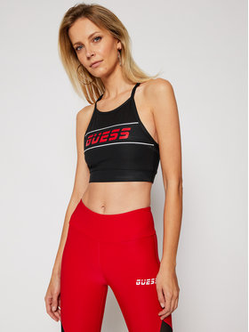 Guess Guess Top Active Bra O0BA75 MC01P Schwarz Slim Fit