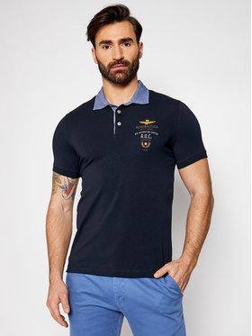 Aeronautica Militare Aeronautica Militare Тениска с яка и копчета 211PO1564J506 Тъмносин Regular Fit