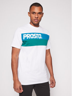 PROSTO. PROSTO. T-shirt KLASYK Resk 1212 Bianco Regular Fit
