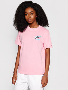 Tommy Jeans Tommy Jeans T-Shirt Tjw Painted Flag Tee DW0DW09810 Rosa Relaxed Fit