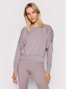 Nike Nike Bluză Cropped Fleece Laced Training Crew DA0447 Violet Oversized Fit
