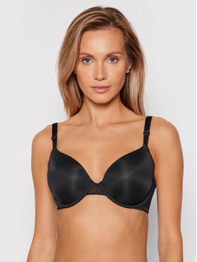 Calvin Klein Underwear Calvin Klein Underwear Biustonosz z fiszbiną Lighty Lined Demi 000QF9005E Czarny