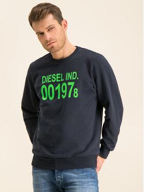 Diesel Diesel Mikina S-Girk-J3 00SDPY 0IAJH Tmavomodrá Regular Fit