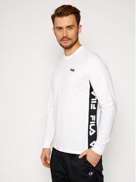 Fila Fila Тениска с дълъг ръкав Tedos 687886 Бял Regular Fit
