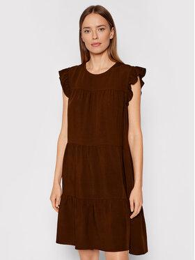 Rinascimento Rinascimento Sukienka letnia CFC0103416003 Brązowy Regular Fit