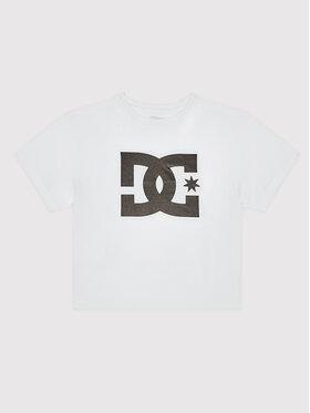 DC DC T-Shirt Star ADJZT03015 Biały Regular Fit