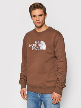 The North Face The North Face Bluza Drew Peak Crew NF0A4SVR0KA1 Brązowy Regular Fit