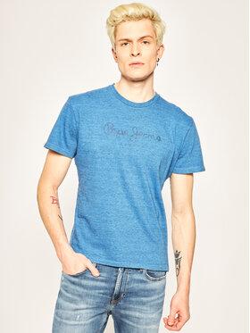 Pepe Jeans Pepe Jeans T-Shirt Horst PM506409 Modrá Regular Fit